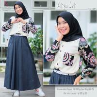Baju Fashion Setelan Remaja Muslim Atasan Dan Rok Atifaa Set
