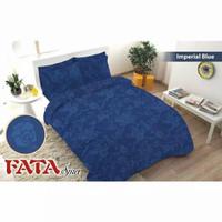 Full Set Bedcover Polos Emboss Fata King 180 Warna Imperial Blue Biru