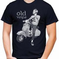 Kaos Pria OLD VESPA T-shirt Distro Baju Pria/Oblong Cowok Keren