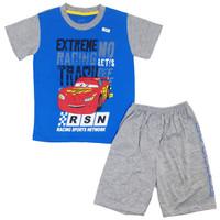 4-13 Thn / Setelan Anak Laki-Laki / Baju Anak laki / Setelan Anak Cowo - Car Biru, Size 16