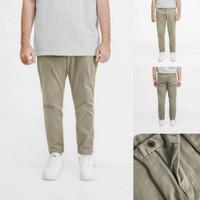 UnqL Slim Ankle Pants Khaki - Khaki, M