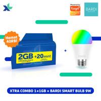 Kartu Perdana Xtra Combo 1GB + 1GB & BARDI Smart Bulb 9W