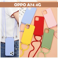 OPPO A74 4G SLING CASE TALI SOFT CASE CANDY COLOR GLOSSY SILIKON