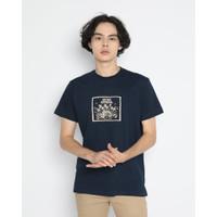 Kaos Pria Erigo T-Shirt Coco Vilage Cotton Combed Navy