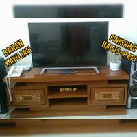 Rak Lemari Tv Minimalis Meja Bufet Tv Kayu Jati Model Kaca Mata