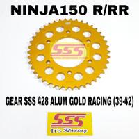 GEAR GIR BELAKANG SSS 428 ALUMUNIUM GOLD RACING NINJA150 NINJA R RR - 42