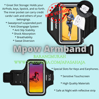 Mpow Sport Gym Armband Case For iPhone X Adjustable Running Arm Band