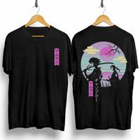 T-shirt Samurai New/ Baju Kaos Distro Pria Wanita Cotton 30s