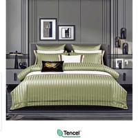 bedcover set sprei sutra tencel 60s salur uk. 120x200x40 warna- hijau