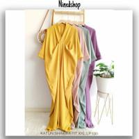 Baju Dress Vneck Kaftan Jumbo Cewe/Fashion Polos Wanita Terbaru