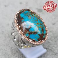 Cincin Batu Pirus Persia Asli Natural Turquoise Persian Original