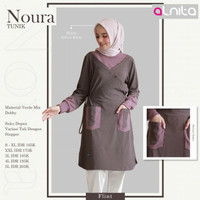 BAJU TUNIK atasan wanita muslim lengan panjang blouse noura alnita