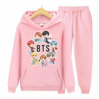 Setelan Bt21 Bts Anak Sweater Hoodie Piyama Baju Tidur
