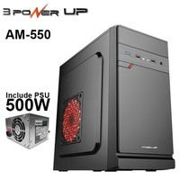 Casing POWER UP Micro-ATX AEROMAX with PSU 500W Best