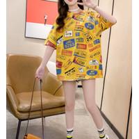 T-Shirt / Comic Squirel Semi Dress xxl - Baju Vintage Tangan Pendek