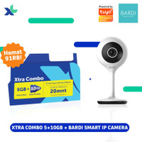 Kartu Perdana Xtra Combo 5GB + 10GB & BARDI Smart IP Camera CCTV