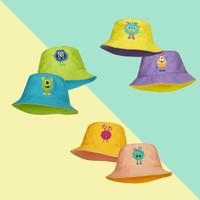 Pop Kidswear Monster Squad Series Hat - Reversible Bucket hat bordir