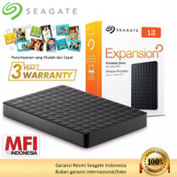Seagate Expansion Hardisk Eksternal 1TB USB 3.0 HDD External - Hitam + Bag