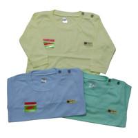 3 pcs Baju Kaos Bayi Uscita size S/M/L/XL Lengan Panjang