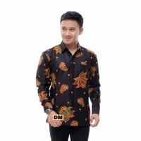 kemeja batik pria murah lengan panjang-batik resmi-baju pria - M
