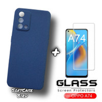 Case OPPO A74 - 4G Soft Case Matte FREE Tempered Glass Clear Oppo A74