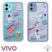 Astronaut VIVO Case Y11 Y12 Y91C Y91 Y93 Y95 Y15 Y17 Y12I Casing Cute
