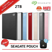 Seagate Backup Plus Slim 2TB Hardisk Eksternal USB 3.0 External - Merah no Bag