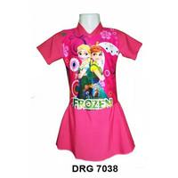 Baju renang anak perempuan anak SD usia 6 - 10 tahun - Frozen Pink, M
