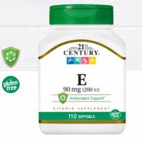 Vitamin E 200 iu isi 110 softgels 21 St Century Anti oksidan