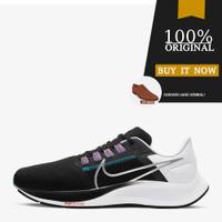 Sepatu Running Original Nike Air Zoom Pegasus 38 - Black/Met. Silver