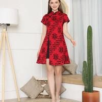 DBT335 - Dress Batik Cheongsam (Jumbo)