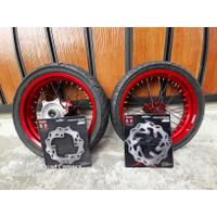 Paket Hemat Wheelset Velg Set Ban Set Supermoto Honda CRF 150 L Murah