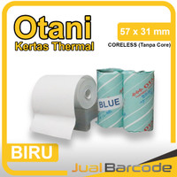 Thermal Paper Otani 58 x 30 / 58 x 31 Blue Coreless Mobile Printer - B