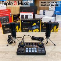 MAONO AM200 S2 Maonocaster Dual Mic bundle paket podcast 2 mic