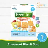 PROMINA Arrowroot Cookies Biskuit Bayi Rasa Keju / Susu MPASI 110gr - Susu