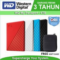 WD My Passport 4TB - HD HDD Hardisk Eksternal External 2.5 USB 3.0