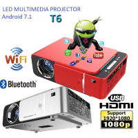 MINI PROJECTOR T6 ANDROID WIFI 120 ANSI LUMENS HOME THEATER PROYEKTOR