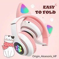 CAT EAR HEADPHONE BLUETOOH LED STN-28 EAR WIRELESS BANDO CAT