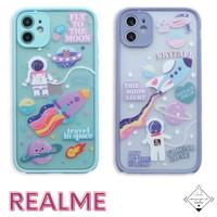 Astronaut Realme Case C1 A1K 5 5I C3 C11 C12 C15 7i C17 Casing Cute