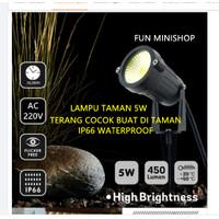 LAMPU TAMAN LED COB OUTDOOR WATERPROOF SOROT TAMAN 5W FLASHSALE - Putih