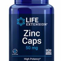 life extension zinc caps 50 mg isi 90 vegetarian capsules