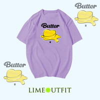 BUTTER BTS - LIME OUTFIT - KAOS/T-SHIRT/ATASAN/FASHION WANITA