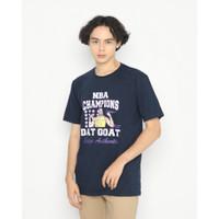 Kaos Pria Erigo T-Shirt Dat Goat Nba Cotton Combed Navy - S