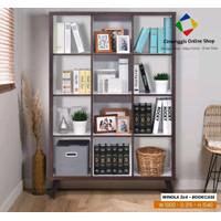 Rak Buku Dekorasi Pembatas Ruangan Minimalis - Medium