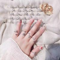 Fashion Cincin / Cincin huruf A-Z - Cincin abjad - cincin Inisial