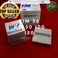 Piston Kit Seher ring FIM36 100 pin 14 53.4mm Racing Xeon 125 RC dome