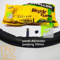 Ban dalam sepeda ukuran 12 x 1.75-2.125 ban dalam sepeda 12-1/4