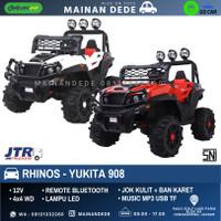 Mainan Mobil Aki Anak Jeep Rhinos 908 Yukita JOK KULIT BAN KARET
