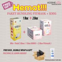 PAKET BUNDLING MASKER KOSME MASK 2 BOX FITMASK + 1 BOX KM 95