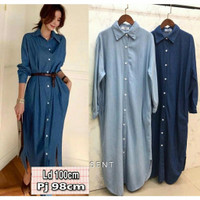 Baju Kemeja Tunik Fashion Dress Terusan Wanita Muslim Kekinian Cantik